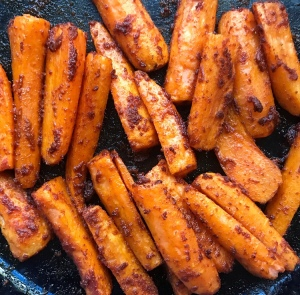 FODMAP friendly spiced carrot batons